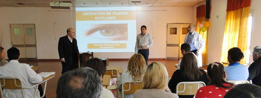 Cucaiba capacitó al personal del Héroes de Malvinas de Merlo para incrementar los trasplantes de corneas